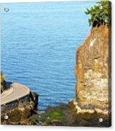 Siwash Rock By Stanley Park Seawall Acrylic Print
