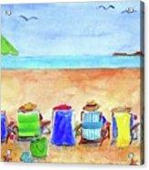Six Beach Amigos Acrylic Print