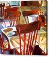 Six Chairs Acrylic Print