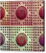 Six Panel Dot And Cube Landscape Acrylic Print
