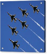Six In Flight Acrylic Print