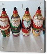 Six Russian Santas Acrylic Print