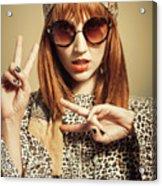 Sixties Retro Fashion Acrylic Print