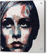 Sixties Sixties Sixties Twiggy Acrylic Print by Paul Lovering