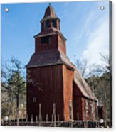 Skansen Church Acrylic Print
