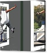 Skateboarder - Gently Cross Your Eyes And Focus On The Middle Image Acrylic Print
