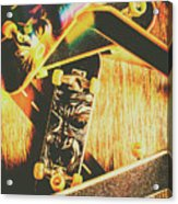 Skateboarding Tricks And Flips Acrylic Print
