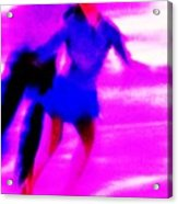 Skating Couple Abstract Acrylic Print