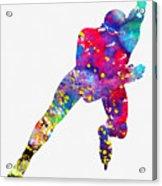 Skating Man-colorful Acrylic Print