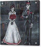Skeleton Bride And Groom Aka Amor Sencillo Acrylic Print