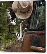 Skeleton Crew - Skeleton Driving A Vintage Truck Acrylic Print