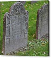 Skeleton Tombstone 1600s Acrylic Print