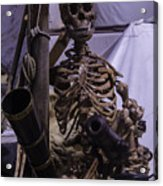 Skeleton With Bow Canon Acrylic Print