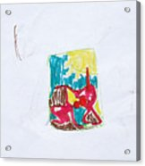 Sketch Devil Made Me Acrylic Print