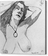 Sketch For Ashley Acrylic Print