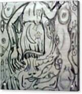 Sketch For Witch Bitch Acrylic Print by Neil Trapp