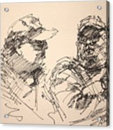 Sketch Men At Tims Acrylic Print