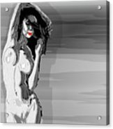 Sketches Of Nude Black And White Acrylic Print