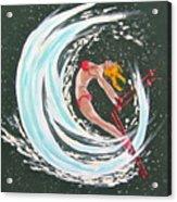 Ski Bunny Acrylic Print
