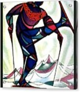 Ski Colorado, United States - Colorado Winter Sports - Retro Travel Poster - Vintage Poster Acrylic Print