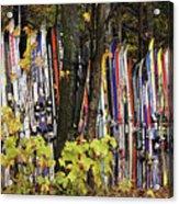 Ski Fence Acrylic Print