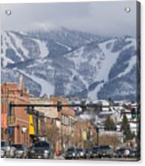 Ski Resort And Downtown Steamboat Acrylic Print by Rich Reid