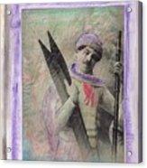 Skiboarder Around 1930 Acrylic Print