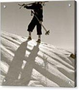 Skier Acrylic Print