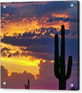 Skies Aglow In Arizona  Acrylic Print
