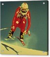 Skiing In Crans Montana Acrylic Print