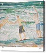 Skim Boarding Daytona Beach Acrylic Print