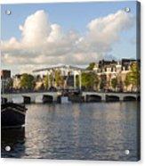 Skinny Bridge In Amsterdam Acrylic Print