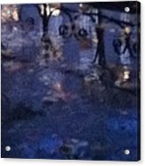 Skirting Cold Water Acrylic Print