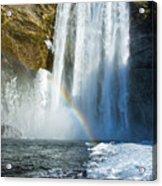 Skogafoss Waterfall Iceland In Winter Acrylic Print