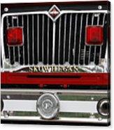 Skowhegan Maine Firetruck Grill Acrylic Print
