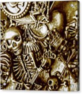 Skull And Cross Bone Treasure Acrylic Print