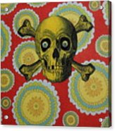 Skull And Cross2 Acrylic Print