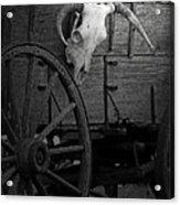 Skull And Wagon Acrylic Print