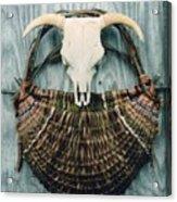Skull Basket Acrylic Print
