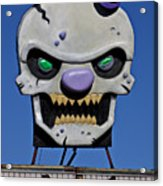 Skull Fun House Sign Acrylic Print