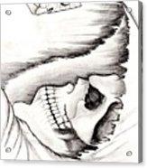 Skull Gambler Acrylic Print