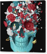 Skull Hope Black Acrylic Print