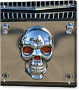 Skull License Plate Acrylic Print