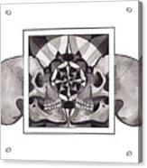 Skull Mandala Series Nr 1 Acrylic Print