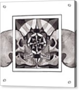Skull Mandala Series Nr 1 Acrylic Print by Deadcharming Art