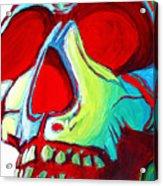 Skull Original Madart Painting Acrylic Print