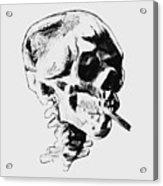Skull Smoking A Cigarette Acrylic Print
