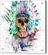 Skull - Wild Sprit Acrylic Print
