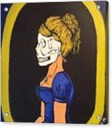 Skull Woman Acrylic Print