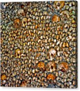 Skulls And Bones Under Paris Acrylic Print